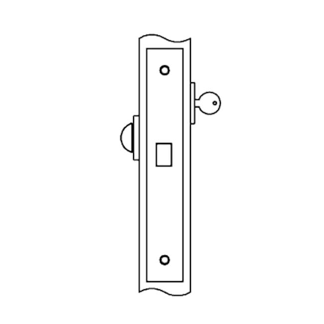 Accurate Lock And Hardware Deadlock for use with cylinder outside, thumb turn inside (cylinder and thumb turn not included)