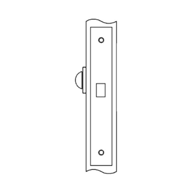 Accurate Lock And Hardware Deadlock for use with thumb turn one side only (thumb turn not included)