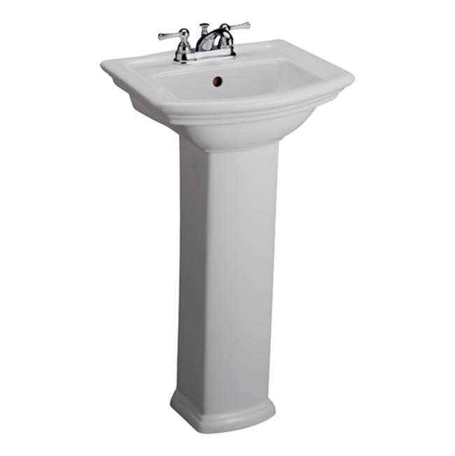 Barclay Washington 460 Pedestal Lavatory, 8'', White
