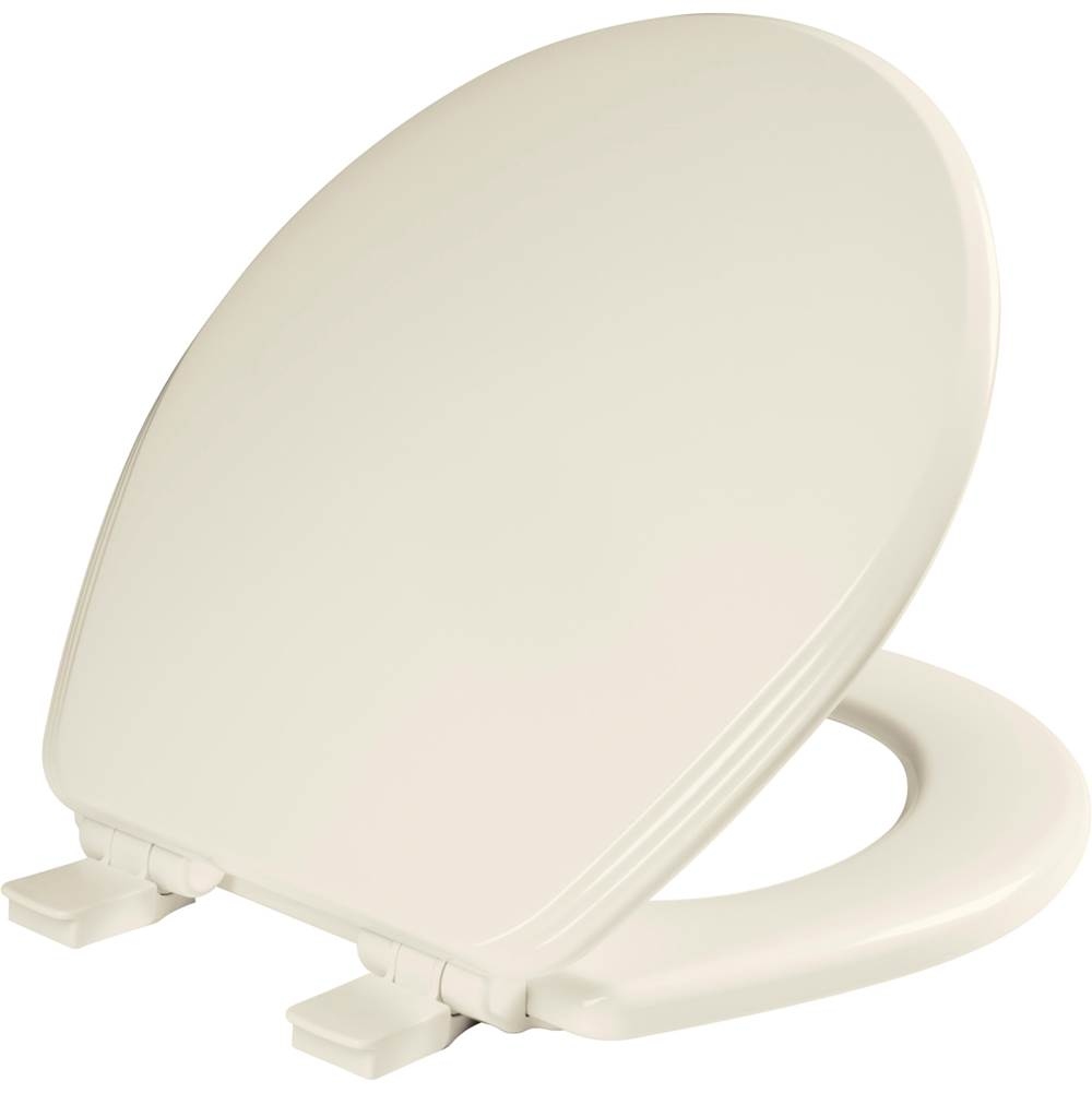 Church Ashland Round Enameled Wood Toilet Seat in Biscuit with STA-TITE Seat Fastening System, Easy-Clean and Whisper-Close