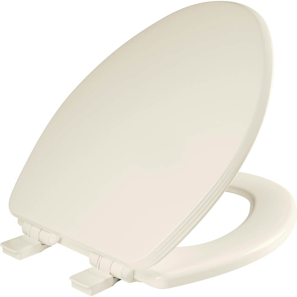 Church Ashland Elongated Enameled Wood Toilet Seat in Biscuit with STA-TITE Seat Fastening System, Easy-Clean and Whisper-Close