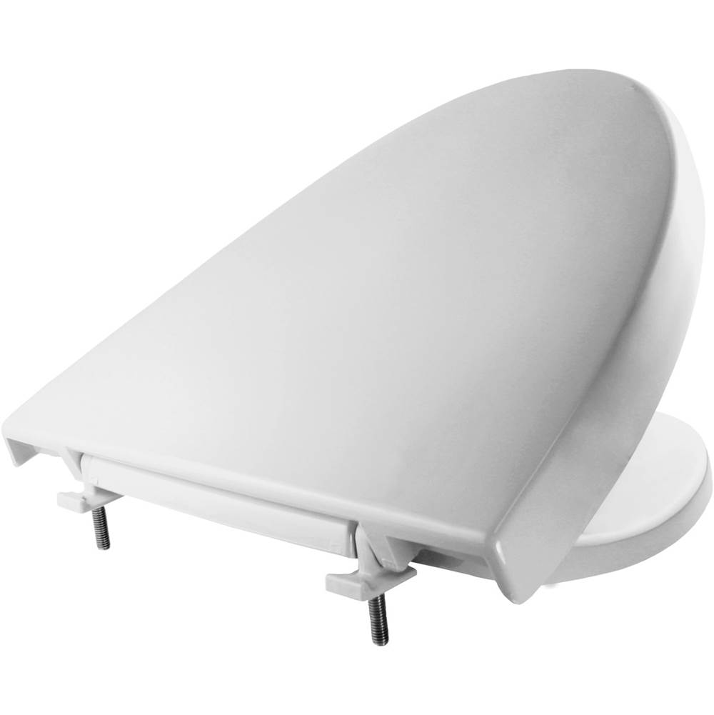 Church Elongated Plastic Toilet Seat in White