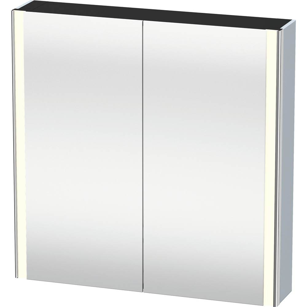 Duravit Duravit XSquare Mirror Cabinet with lighting  Light Blue Satin Matte