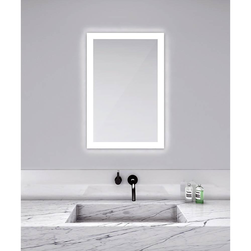 Electric Mirror Silhouette 48w x 36h Lighted Mirror with Keen