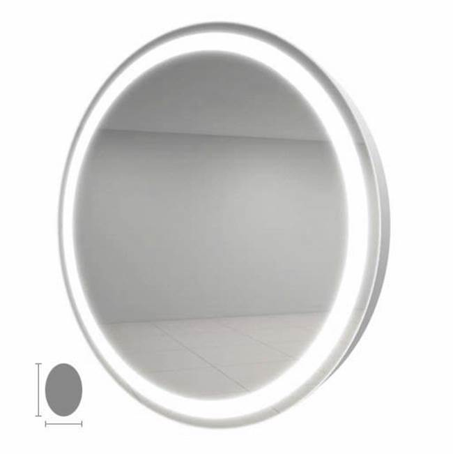 Electric Mirror Eternity 21x30 Oval Lighted Mirror with AVA