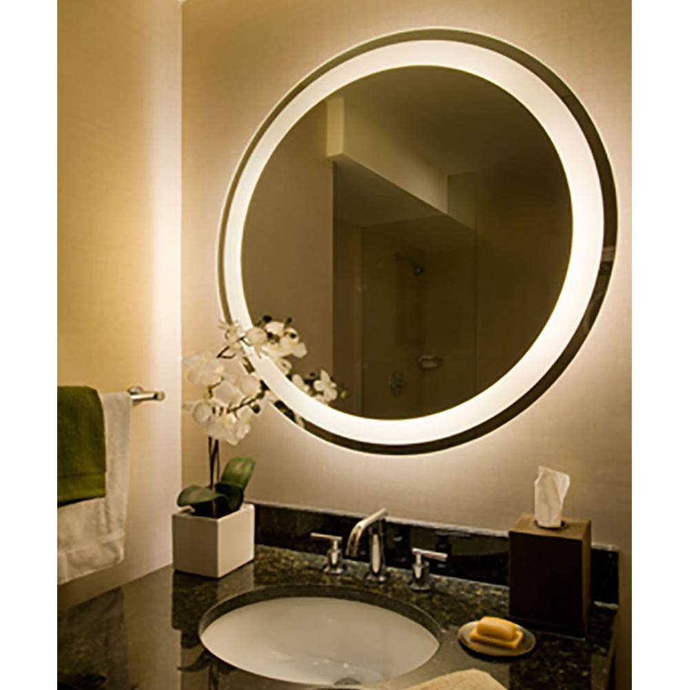 Electric Mirror Eternity 36'' Round Lighted Mirror