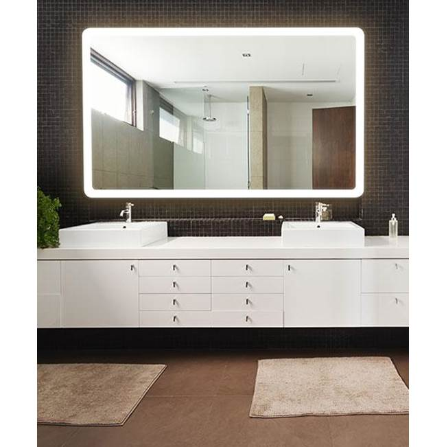 Electric Mirror Eyla with Keen Lighted Mirror