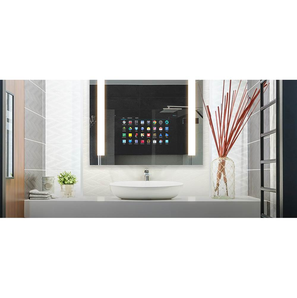 Electric Mirror Silhouette 60w x 42h with 15'' TV