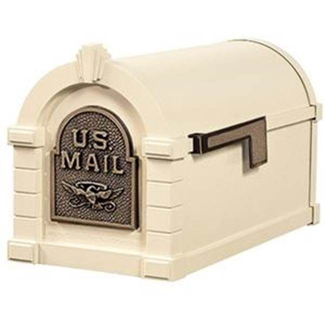 Gaines Manufacturing Eagle Keystone Series® Mailbox Almond w/Antique Bronze Eagle