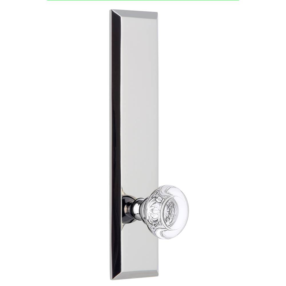 Grandeur Hardware Grandeur Hardware Fifth Avenue Tall Plate Passage with Bordeaux Knob in Bright Chrome