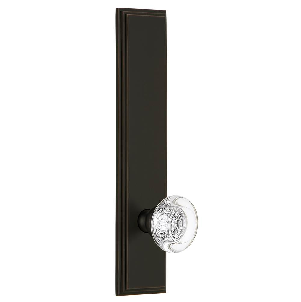 Grandeur Hardware Grandeur Hardware Carre'' Tall Plate Dummy with Bordeaux Knob in Timeless Bronze