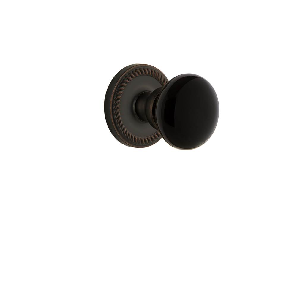 Grandeur Hardware Grandeur Newport Rosette Privacy Coventry Knob in Timeless Bronze