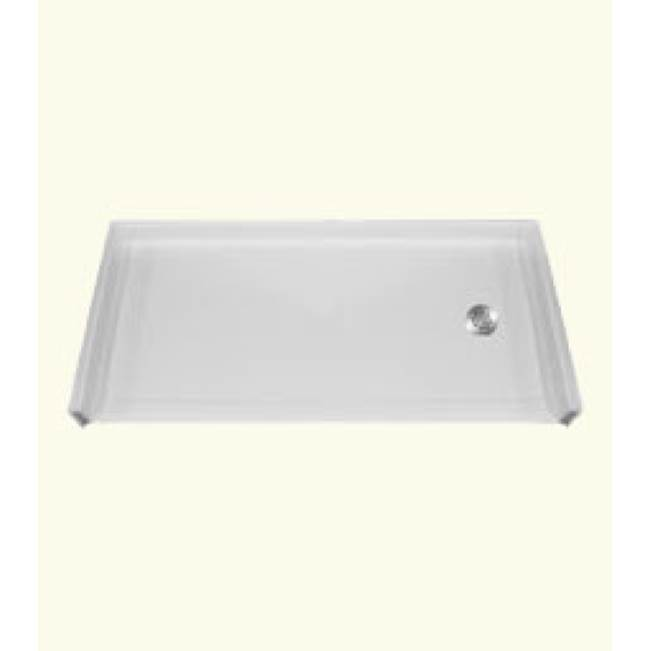 Health at Home RBSP 54x36'' Barrier-free shower pan. White. Left drain.