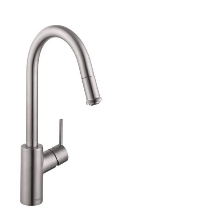 Hansgrohe Talis S² Higharc Kitchen Faucet, 1-Spray Pull-Down, 1.75 Gpm In Steel Optic