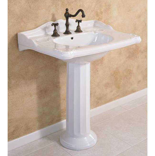 Herbeau ''Charleston'' Washbasin Only in Moustier Rose, Single Hole