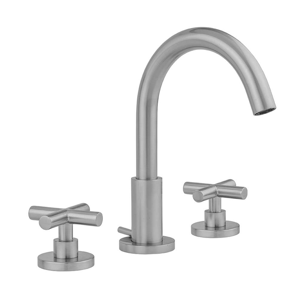 Jaclo Uptown Contempo Faucet with Round Escutcheons and Contempo Slim Cross Handles