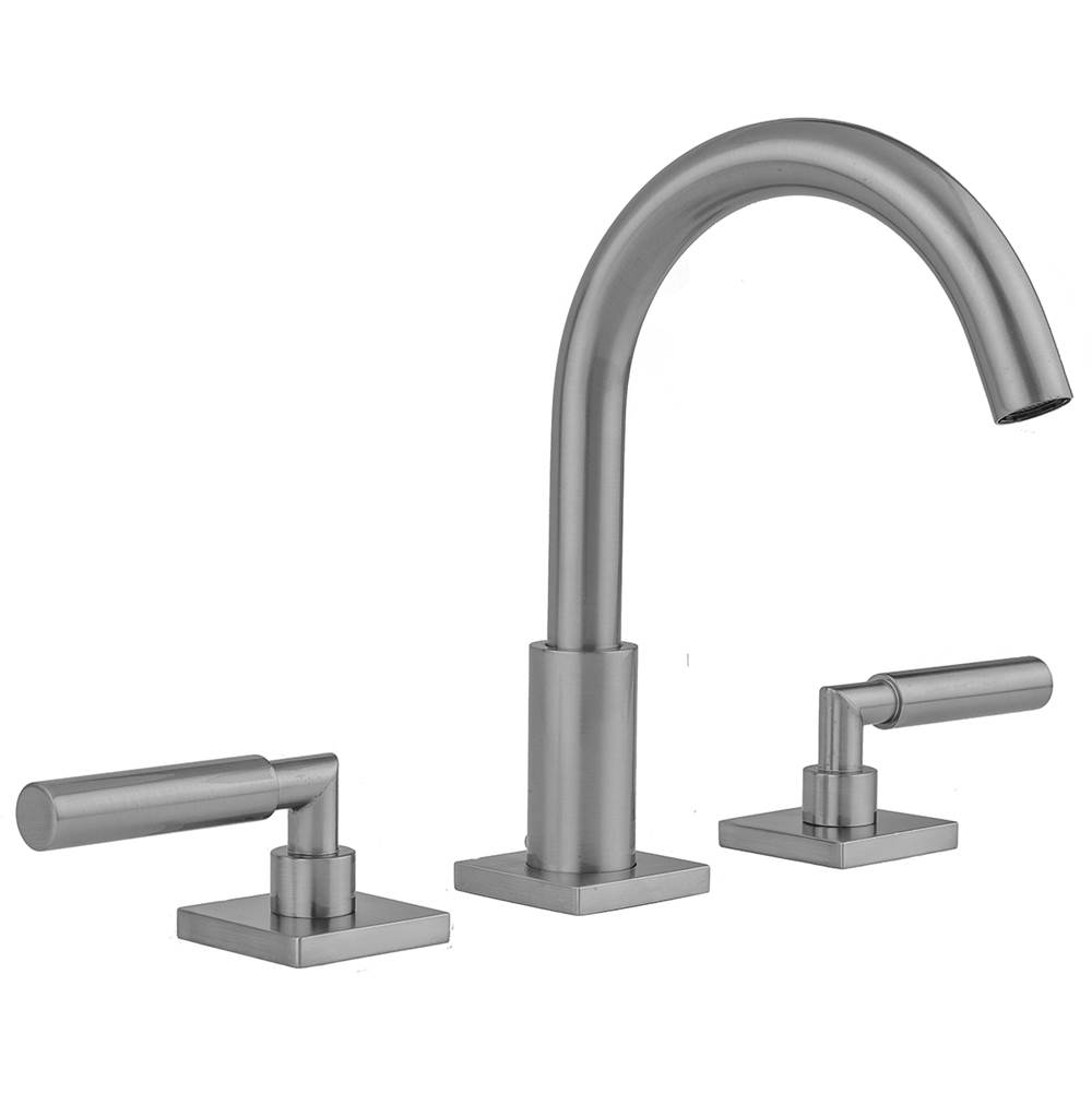 Jaclo Uptown Contempo Faucet with Square Escutcheons and Slim Lever Handles -1.2 GPM