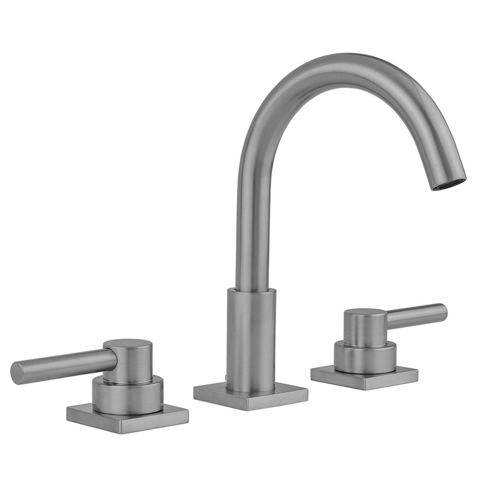 Jaclo Uptown Contempo Faucet with Square Escutcheons and Low Lever Handles- 0.5 GPM