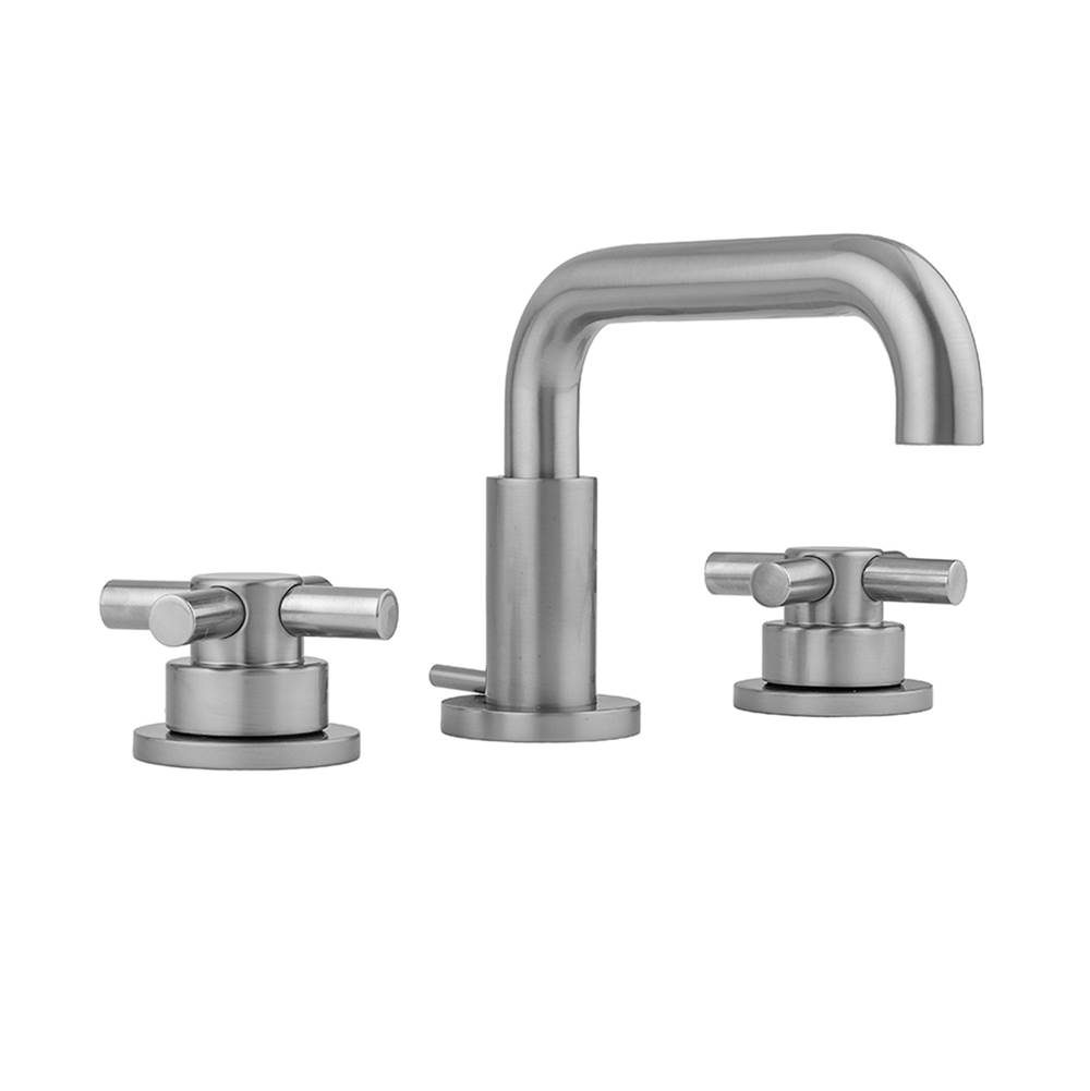 Jaclo Downtown Contempo Faucet with Round Escutcheons and Low Contempo Cross Handles