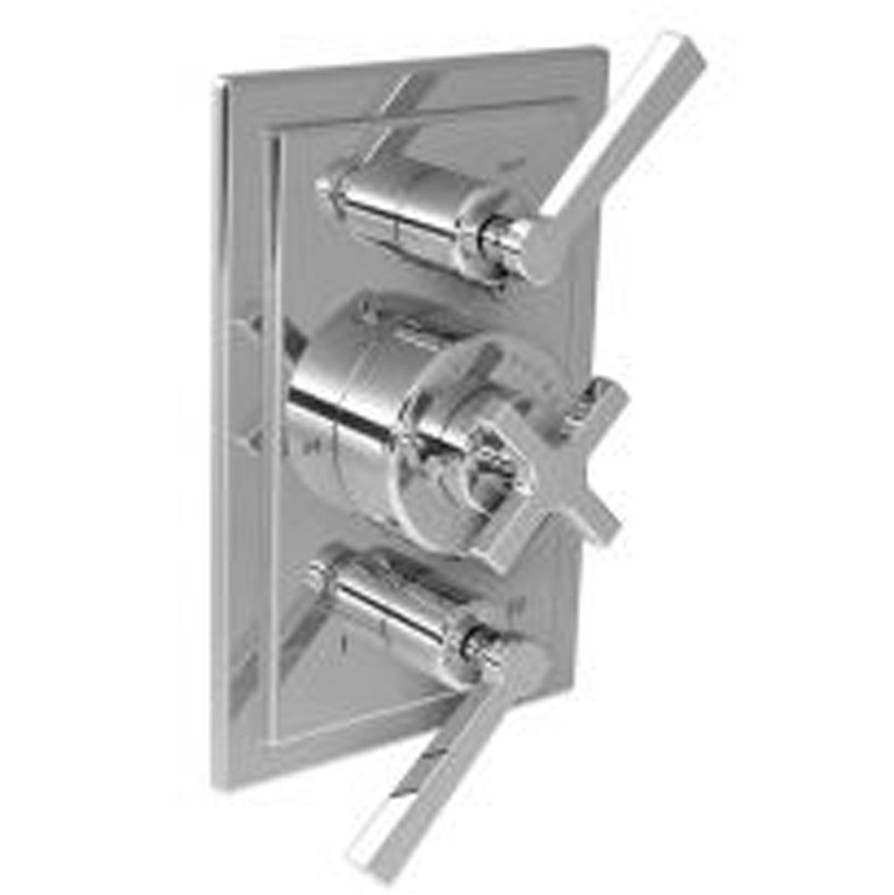 Lefroy Brooks Mackintosh Thermostatic Trim With Integrated Flow Control and Two-Way Diverter To Suit M1-4203 Rough, Silver Nickel