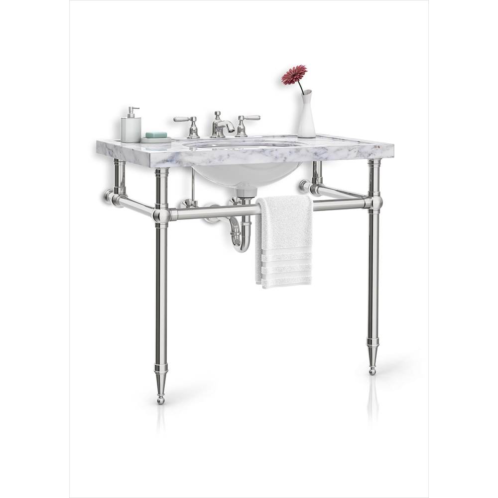 Palmer Industries Tapered Foot Vanity Console - 2 Leg Configuration