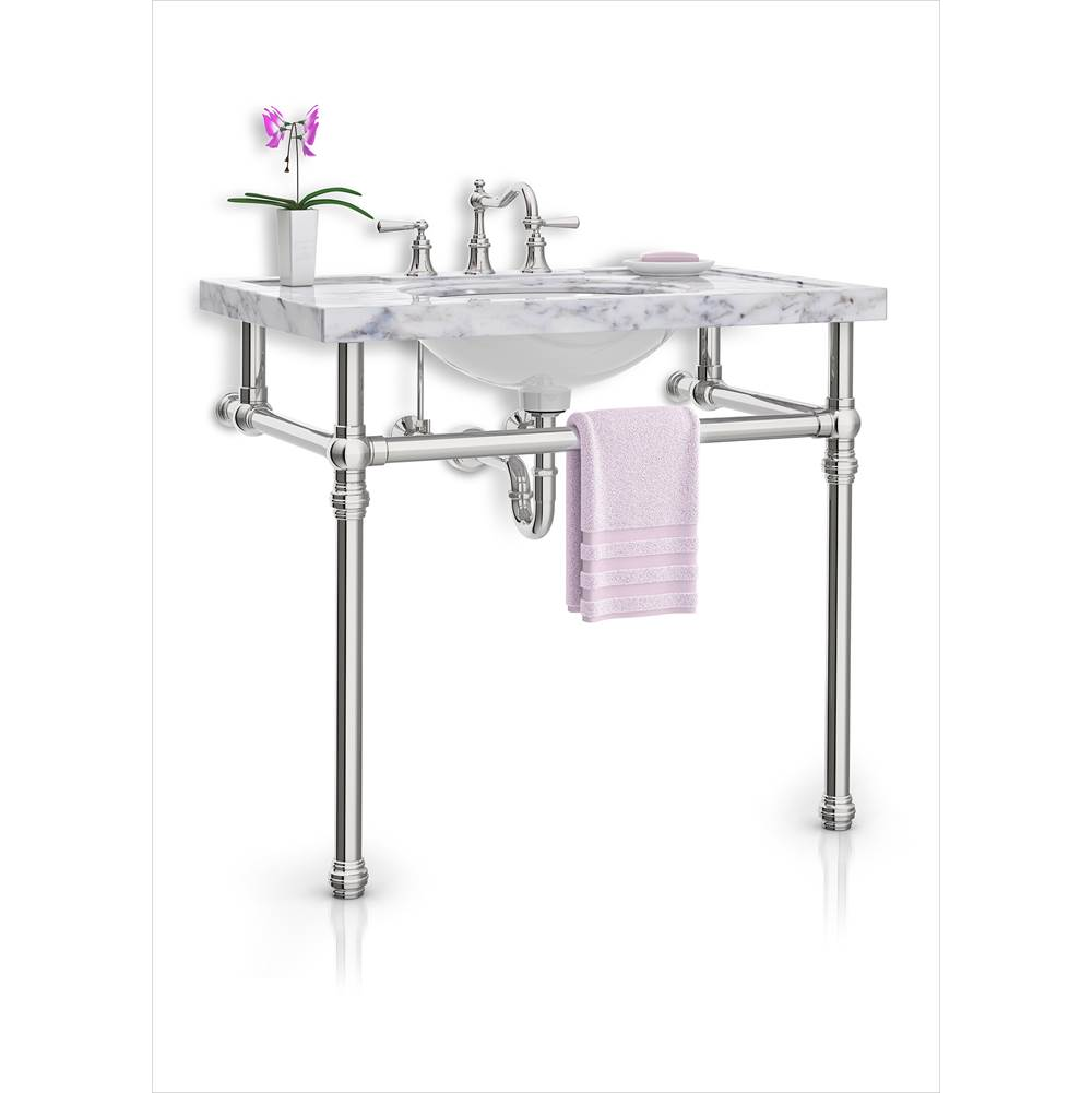 Palmer Industries Decorative Collar Vanity Console - 2 Leg Configuration