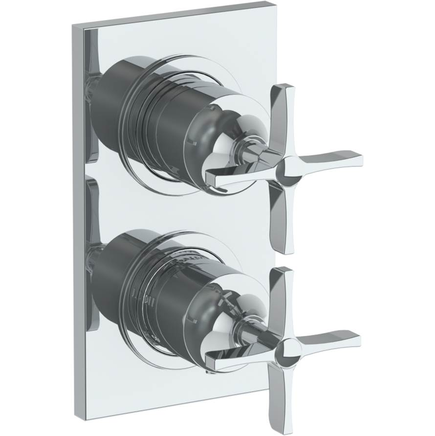 Watermark Wall Mounted Mini Thermostatic Shower Trim with built-in control, 3 1/2'' x 6 1/4''.