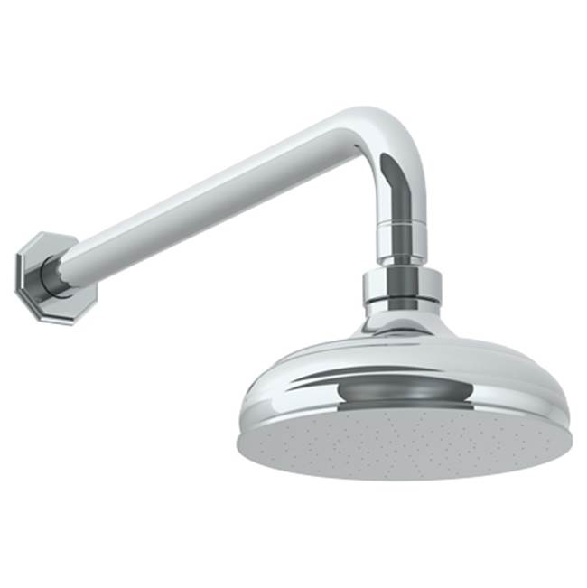 Watermark Wall Mounted Showerhead, 6''dia, with 14'' Arm and Flange