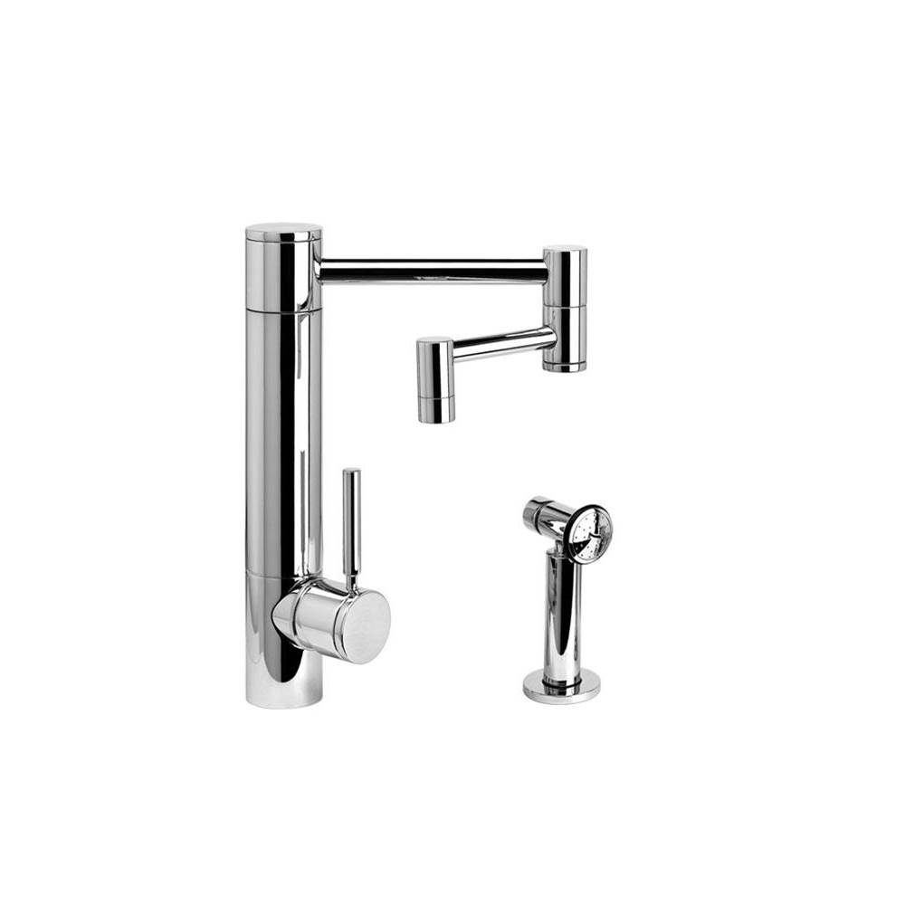 Waterstone Hunley Kitchen Faucet - 12'' Articulated Spout W/ Side Spray