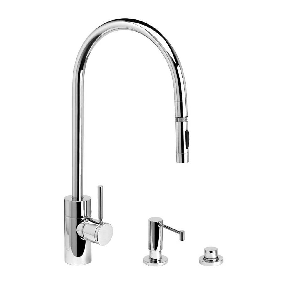 Waterstone Contemporary Extended Reach Plp Pulldown Faucet - Toggle Sprayer - 3Pc. Suite