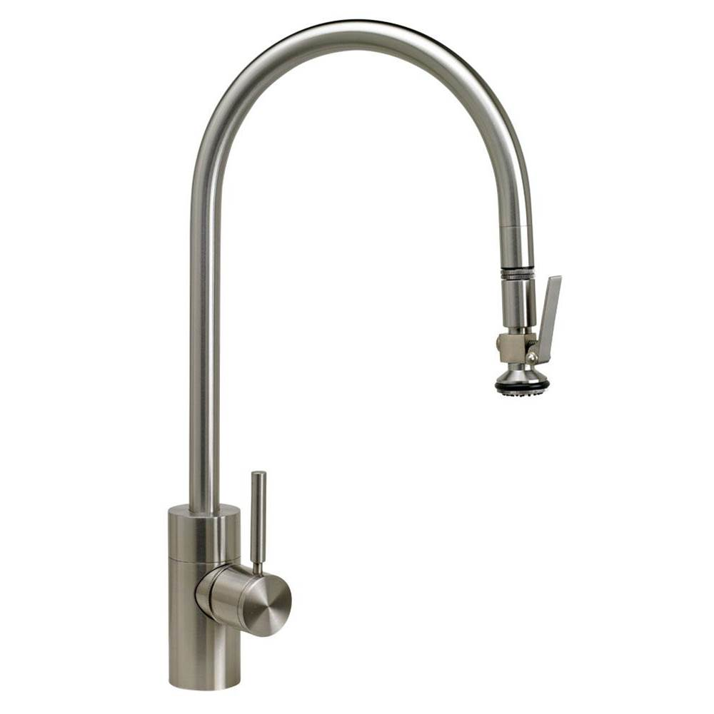 Waterstone Contemporary Extended Reach Plp Pulldown Faucet - Lever Sprayer