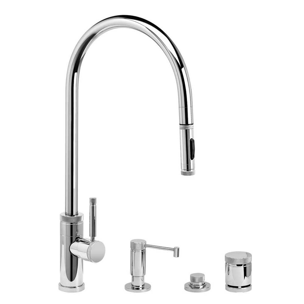 Waterstone Industrial Extended Reach Plp Pulldown Faucet - Toggle Sprayer - 4Pc. Suite