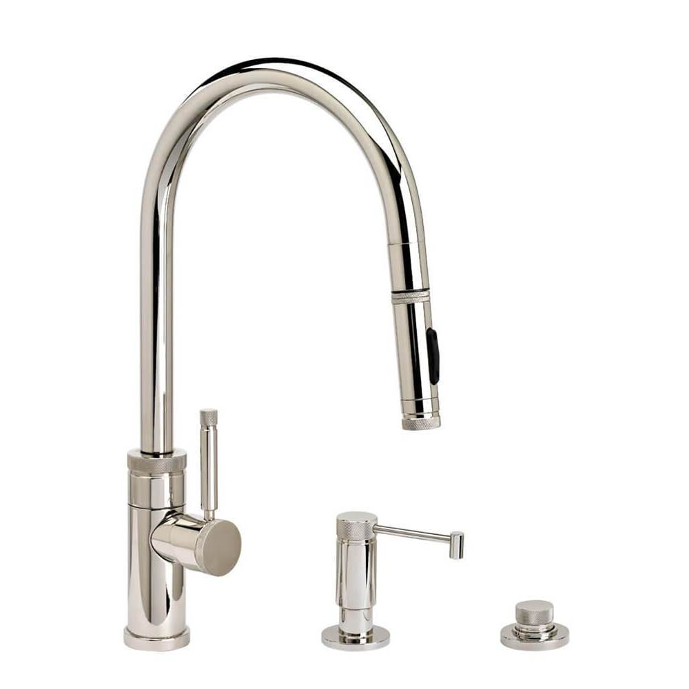Waterstone Industrial Plp Pulldown Faucet - Angled Spout - Toggle Sprayer - 3Pc. Suite