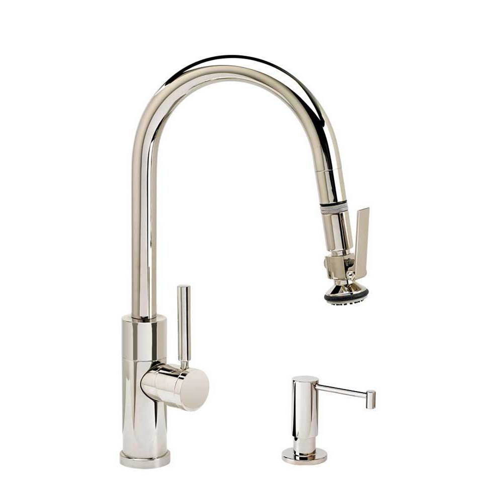Waterstone Modern Prep Size Plp Pulldown Faucet - Angled Spout - Lever Sprayer - 2Pc. Suite