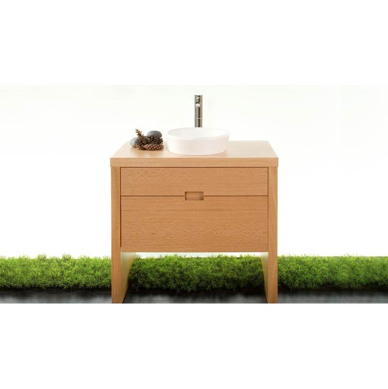 Wet Style FURNITURE ''F'' - 20 X 36 - TWO DRAWERS - WALNUT NATURAL