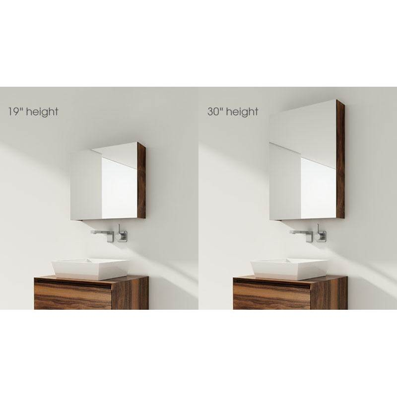 Wet Style FURNITURE ''M'' - MIRRORED CABINET 58 X 19-1/8 HEIGHT - OAK SMOKED